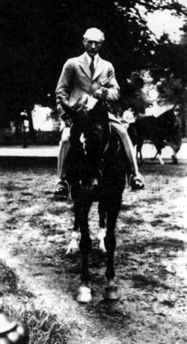 Picture of F. M. Alexander riding a horse