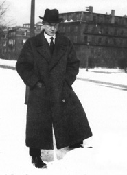 Picture of F. M. Alexander in the snow
