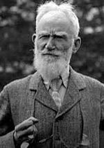 Black and white photograph of George Bernard Shaw
