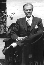 Black and white photograph of Aldous Huxley